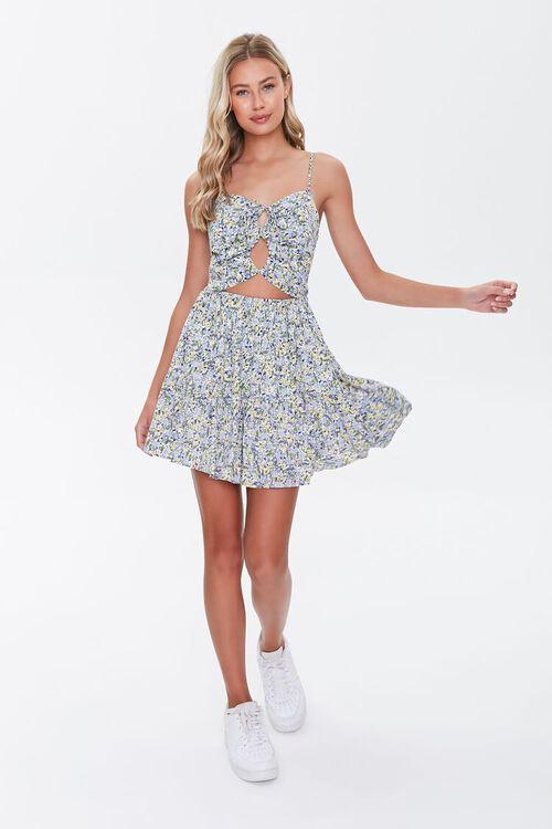 Floral Cutout Mini Dress, image 4