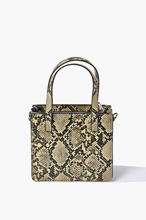Faux Snakeskin Tote Bag, image 1