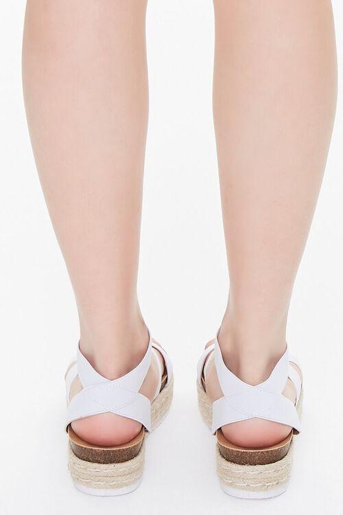 WHITE Espadrille Flatform Sandals, image 3