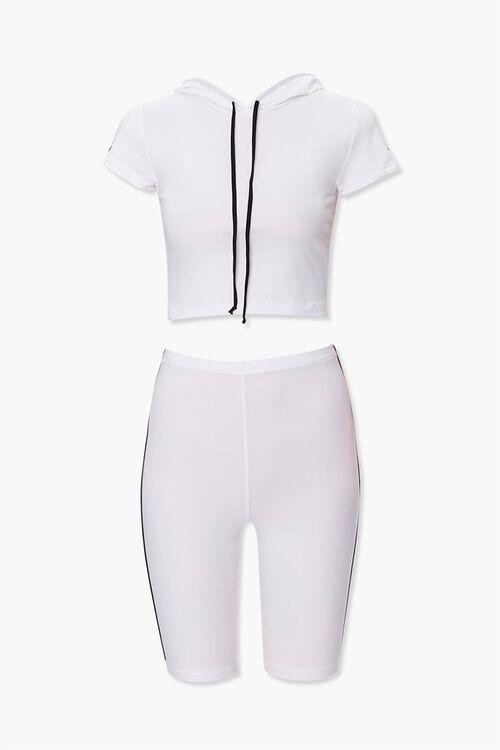 Side-Striped Hoodie & Shorts Set, image 1