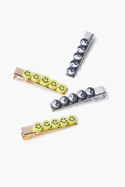 Happy & Yin Yang Charm Gator Clip Set, image 1