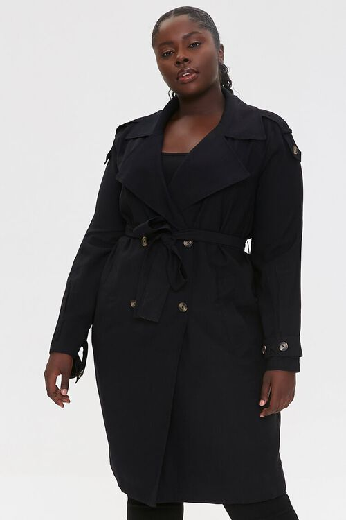 Plus Size Double-Breasted Coat, image 5