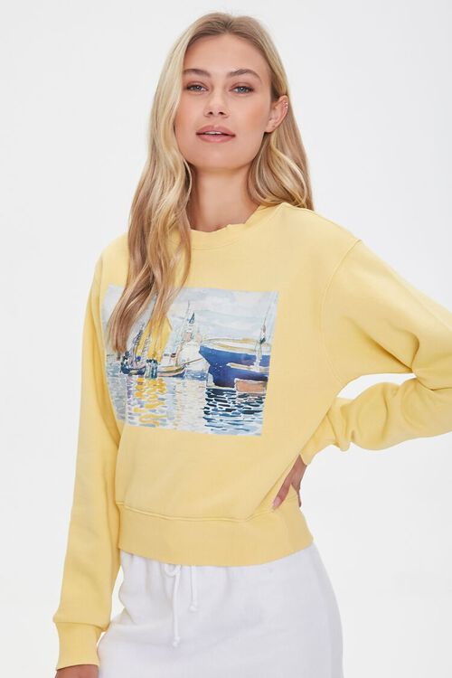 Fleece Painting Pullover, image 1