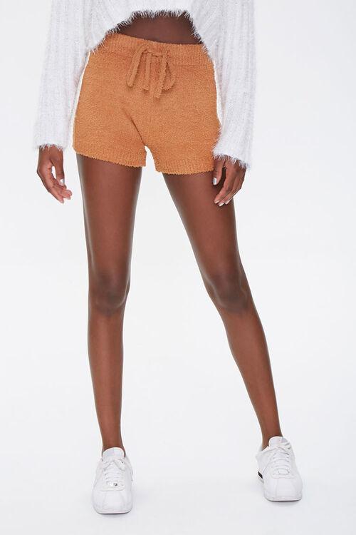 Sweater-Knit Drawstring Shorts, image 2