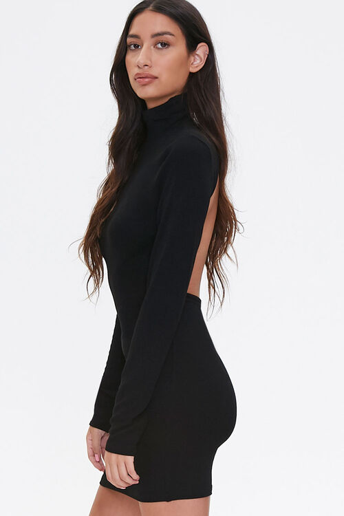 Open-Back Turtleneck Dress, image 2