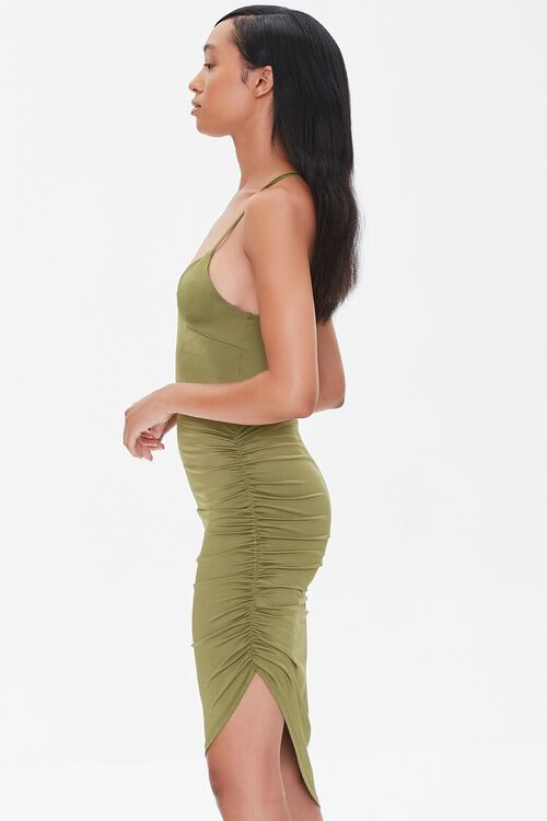 Ruched Bodycon High-Low Dress, image 2