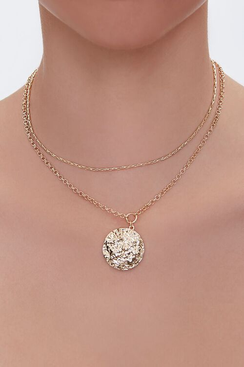GOLD Layered Chain Necklace, image 1