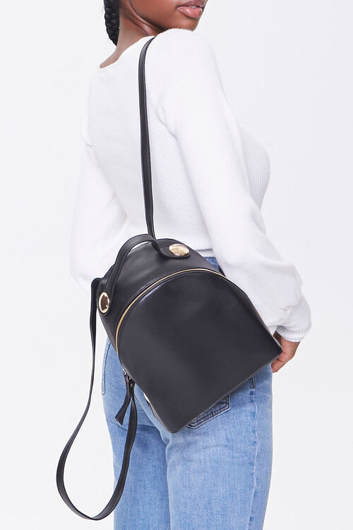 Faux Leather Mini Backpack, image 1