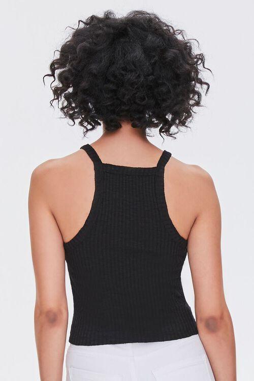 BLACK Ribbed Knit Cami, image 3