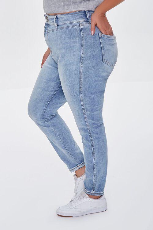 MEDIUM DENIM Plus Size Skinny Uplyfter Jeans, image 3