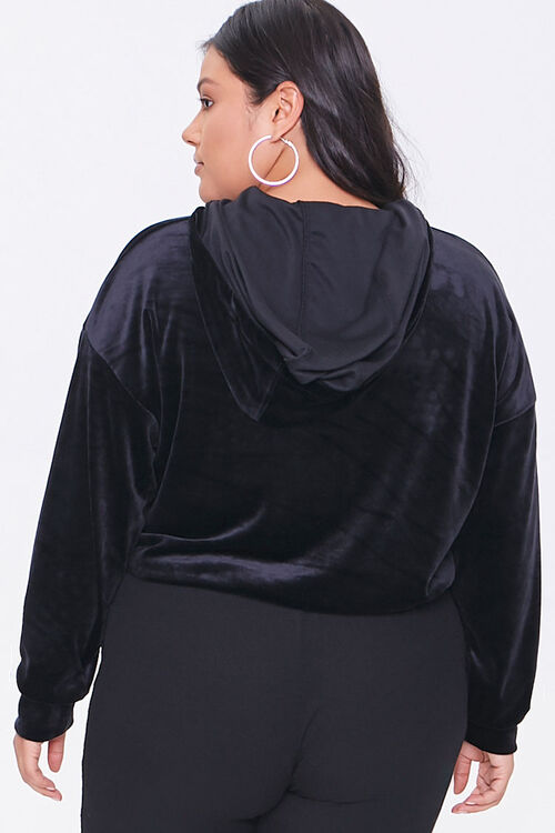 Plus Size Crushed Velvet Hoodie, image 3