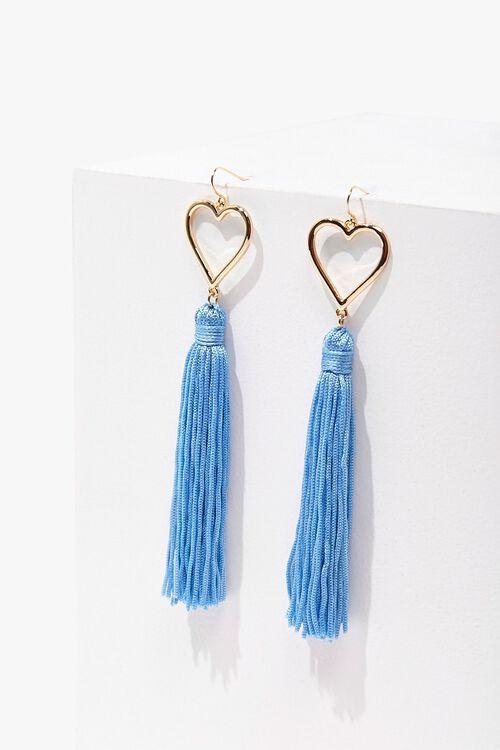 Tasseled Heart Duster Earrings, image 3
