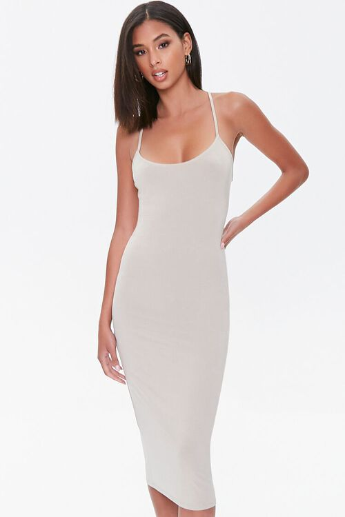 Lace-Up Bodycon Dress, image 1