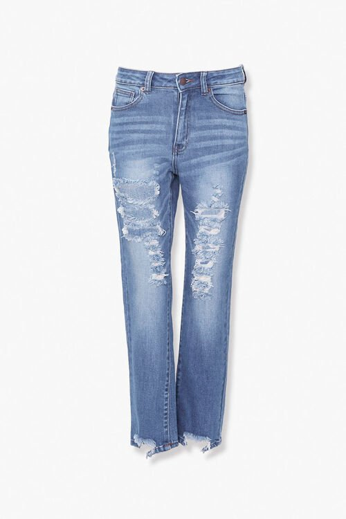 Distressed Ankle Jeans, image 1