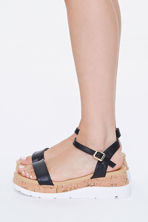 Faux Leather Cork Wedges, image 2