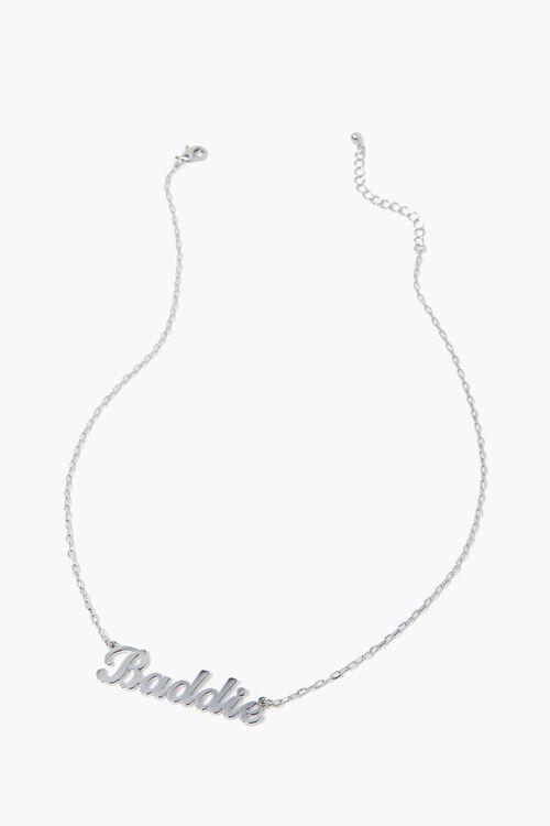 SILVER Baddie Pendant Necklace, image 2