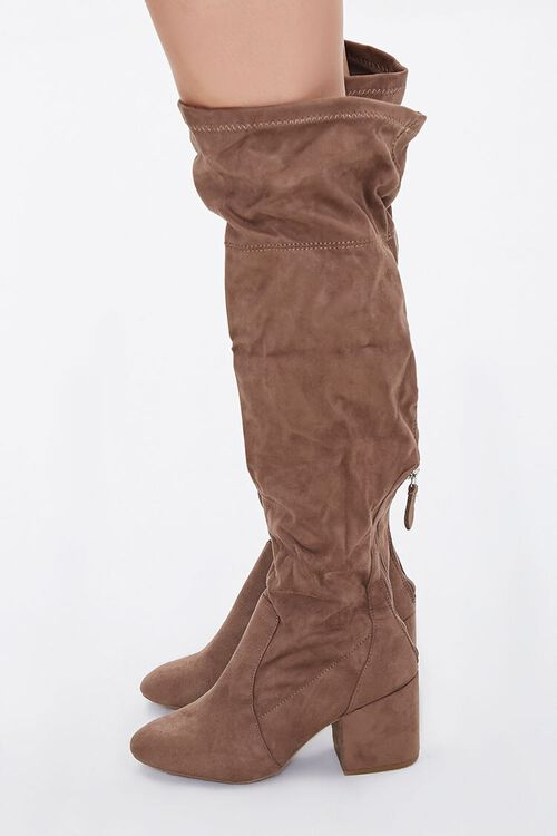 Faux Suede Over-the-Knee Boots (Wide), image 2