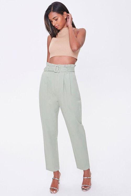 Paperbag Belted Pants, image 5