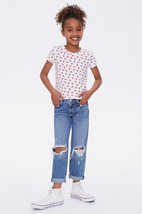 Girls Distressed Mom Jeans (Kids), image 1