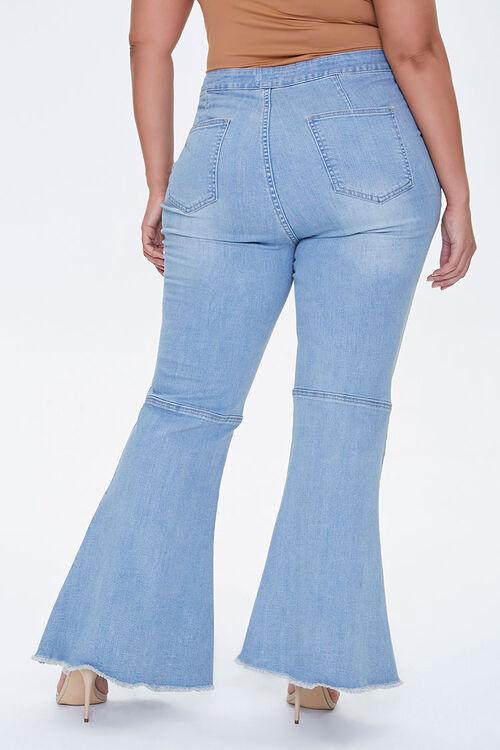 Plus Size Frayed Flare Jeans, image 4