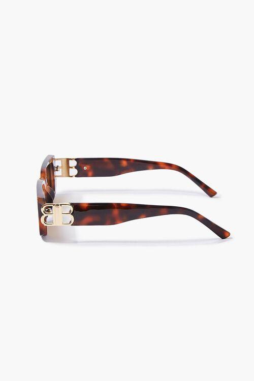 Tortoiseshell Rectangular Sunglasses, image 3