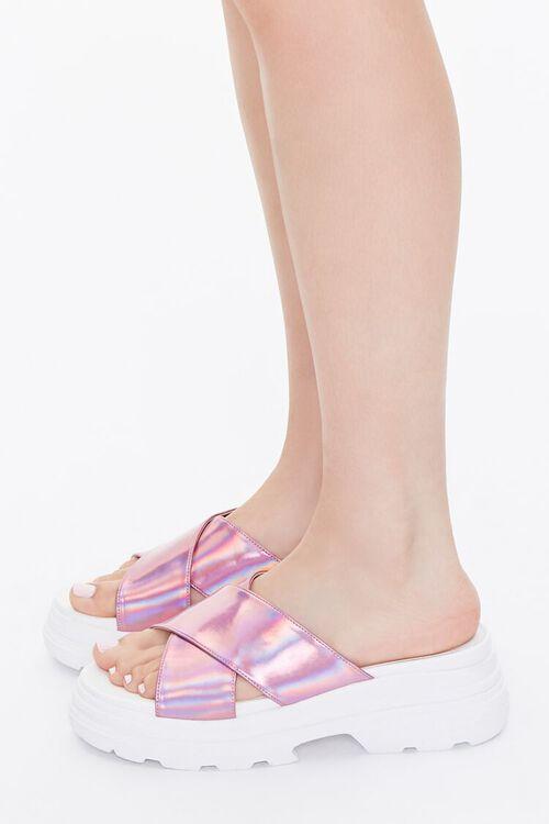 Iridescent Flatform Sandals, image 2