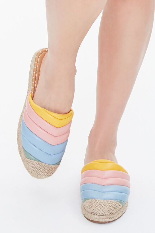 Quilted Rainbow Espadrille Flats, image 4