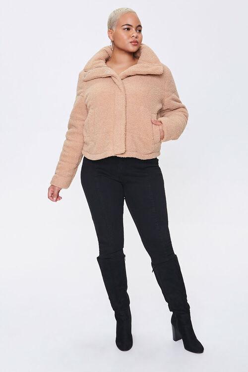 Plus Size Faux Shearling Coat, image 4