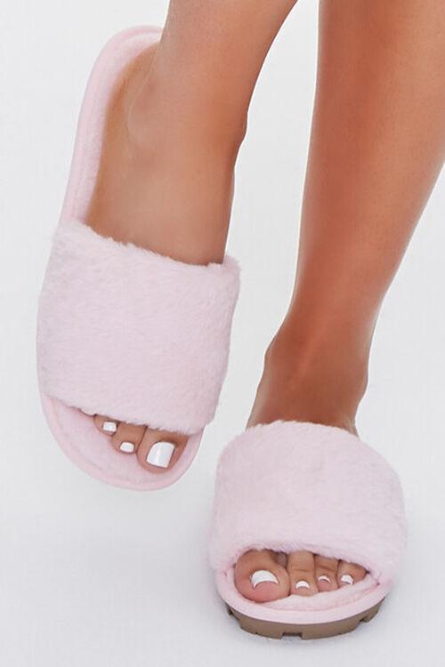 Faux Fur Lug Sole Slippers, image 4
