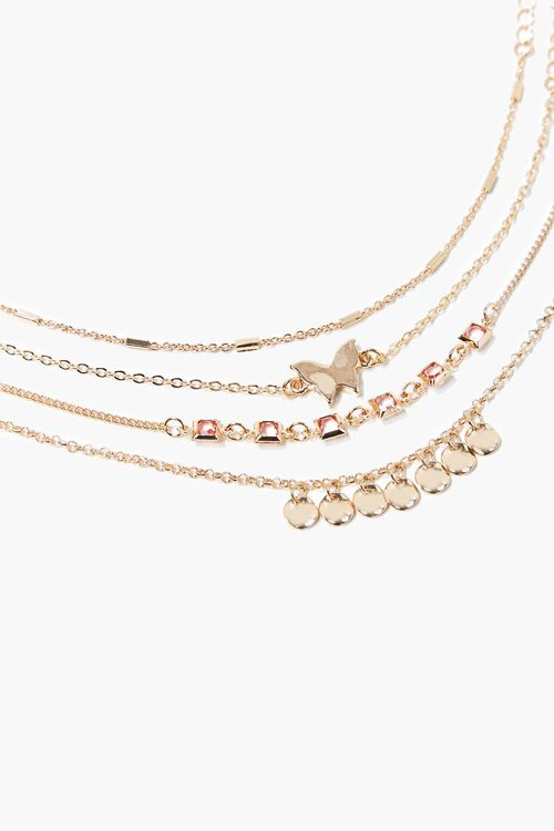 GOLD Butterfly Charm Bracelet Set, image 3