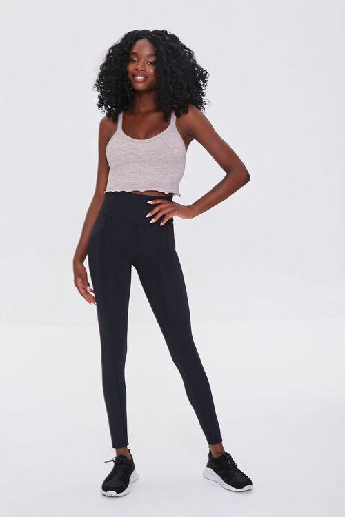 BLACK Active High-Rise Leggings, image 1