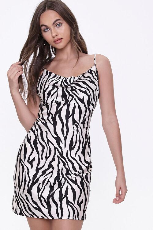 Tiger-Stripe Print Slip Dress, image 1