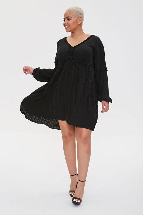 Plus Size Ruffled Knee-Length Dress, image 4