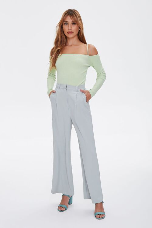 Sweater-Knit Off-the-Shoulder Top, image 4