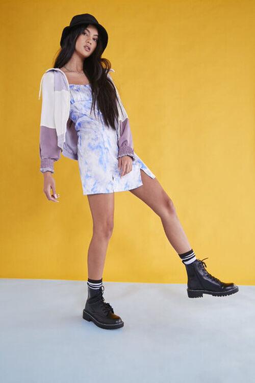 BLUE/WHITE Cloud Wash Cami Mini Dress, image 1