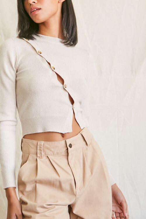 Sweater-Knit Asymmetrical Top, image 1