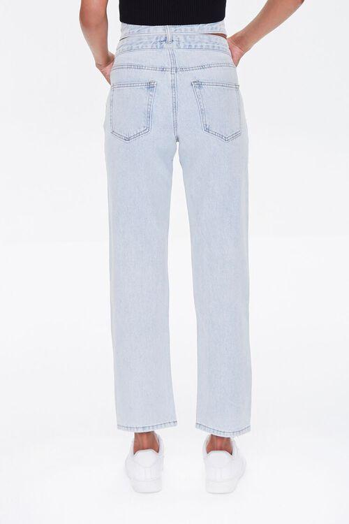 LIGHT DENIM Cutout Straight-Leg Jeans, image 5
