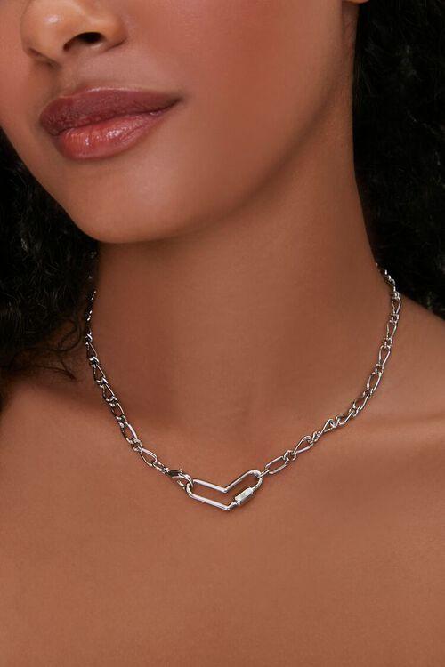 Cutout Heart Pendant Necklace, image 1