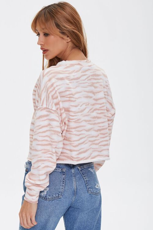 Tiger Striped Print Pullover, image 3