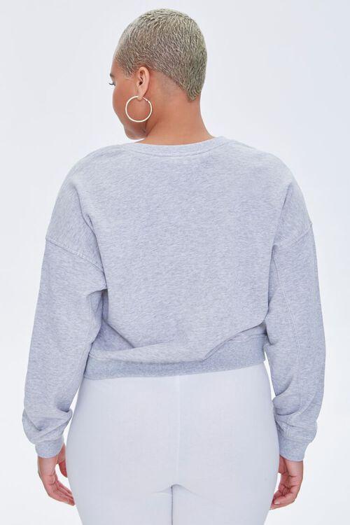 Plus Size Split-Neck Sweatshirt, image 3