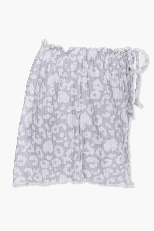 GREY/WHITE Animal Print Sleep Shorts, image 2