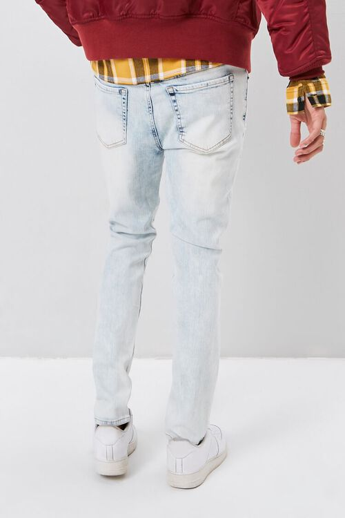 Bleached Distressed-Panel Skinny Jeans, image 3
