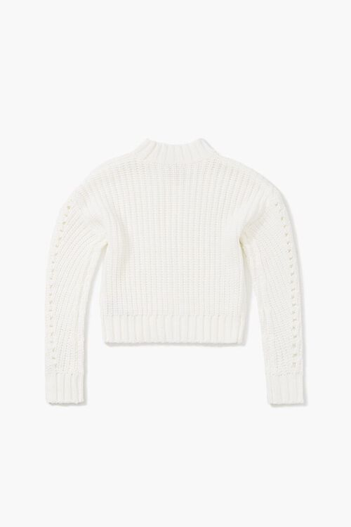 Girls Ribbed Mock Neck Sweater (Kids), image 2