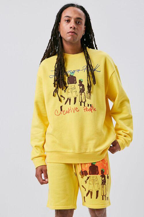 Ashley Walker Art Graphic Fleece Shorts, image 1