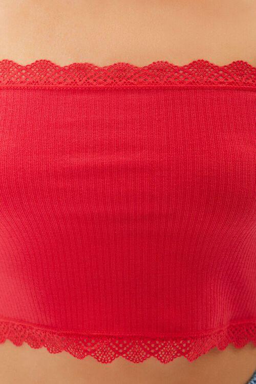 Seamless Crochet-Trim Tube Top, image 5