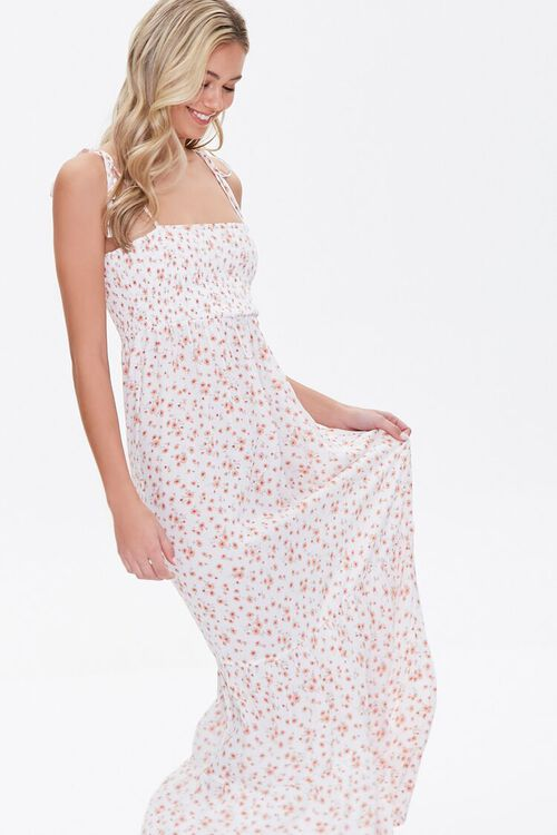 Floral Print Self-Tie Maxi Dress, image 1