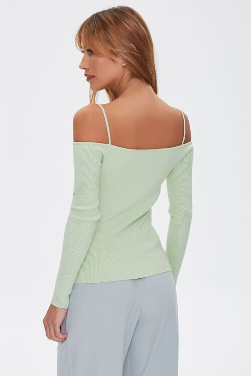 Sweater-Knit Off-the-Shoulder Top, image 3