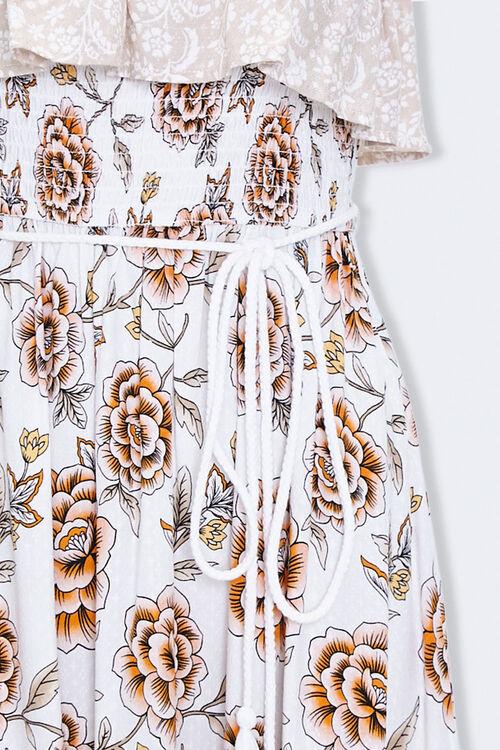 Strapless Floral Patternblock Dress, image 4