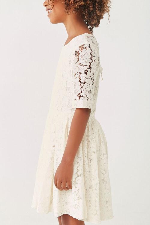 Girls Lace Fit & Flare Dress (Kids), image 2