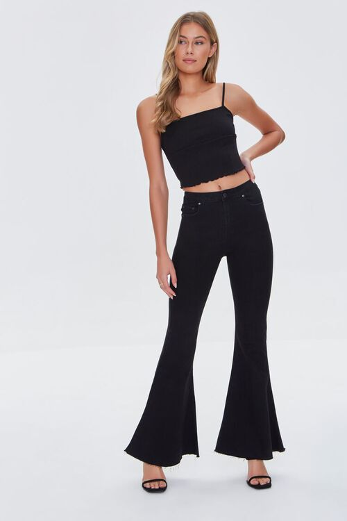 WASHED BLACK Premium Flare Jeans, image 1